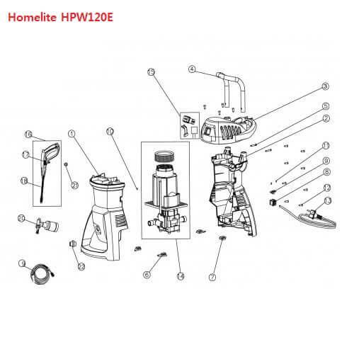 کارواش هوم لایت مدل HPW120E