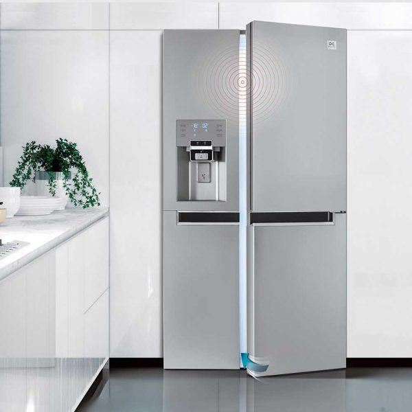 سامانه بسته شدن آهسته یخچال ساید بای ساید دوو مدل D2S-0036