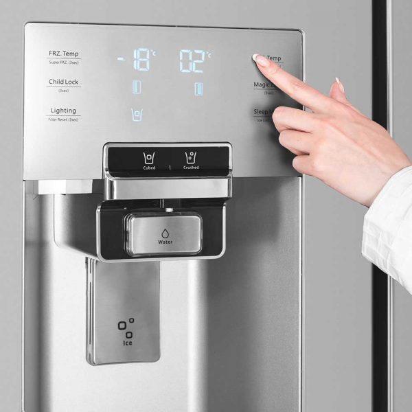 نمایشگر و کنترل پنل لمسی یخچال ساید بای ساید دوو مدل D2S-0036