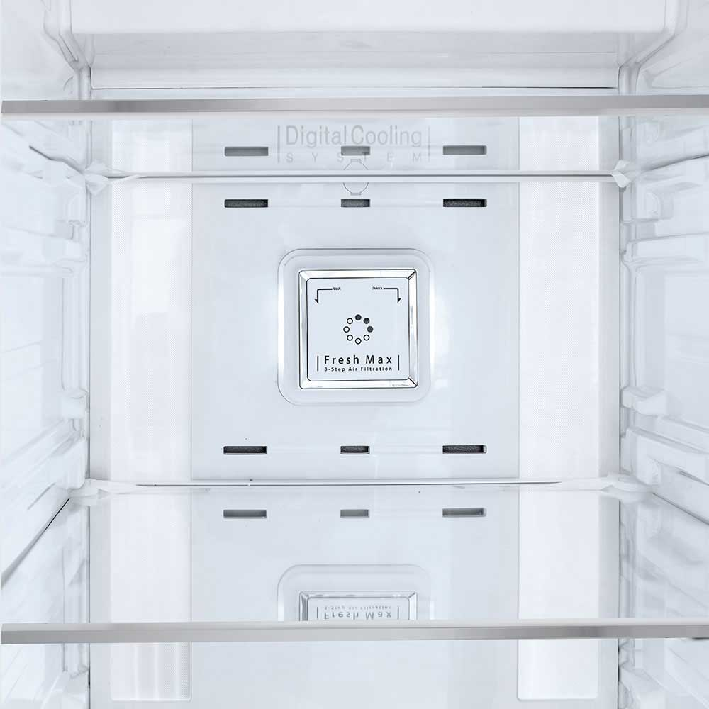 قفسه شیشه ای نشکن و بدون قاب یخچال ساید بای ساید دوو مدل D2S-0037